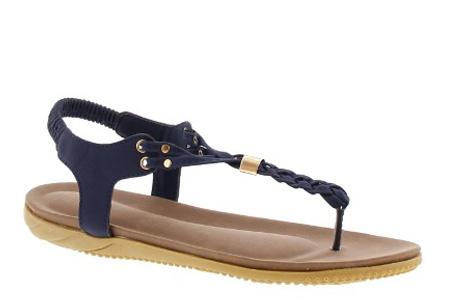 Braided slippers - 38 - Donkerblauw