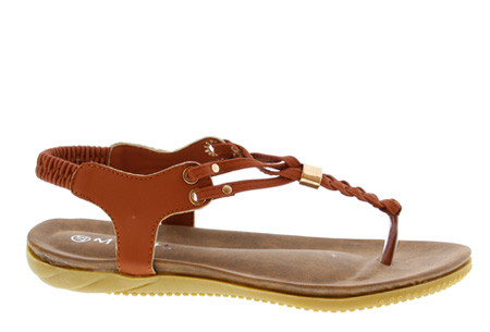 Braided slippers - 42 - Cognac