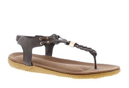 Braided slippers - 36 - Grijs