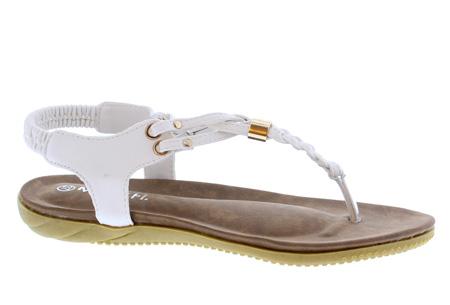 Braided slippers | Eyecatcher voor een complete zomerse look Wit