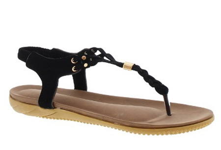 Braided slippers - 42 - Zwart