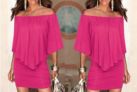 Off shoulder jurk | Voor een chique look met een sexy twist Roze
