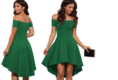 Statement off shoulder jurk | Verkrijgbaar in 6 verschillende kleuren Groen
