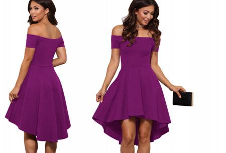 Statement off shoulder jurk | Verkrijgbaar in 6 verschillende kleuren Paars
