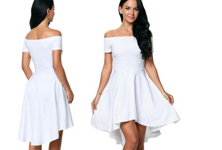 Statement off shoulder jurk | Verkrijgbaar in 6 verschillende kleuren Wit