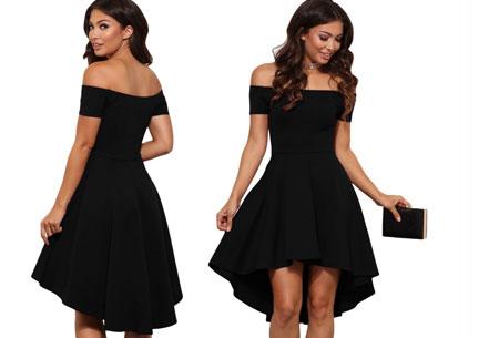 Statement off shoulder jurk | Verkrijgbaar in 6 verschillende kleuren Zwart