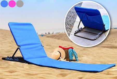 Dagaanbieding: Vouwbare strandmat nu super voordelig