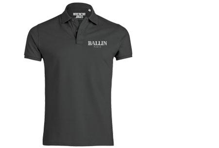 BALLIN Paris herenpolo's | Origineel, hip en van topkwaliteit! antraciet