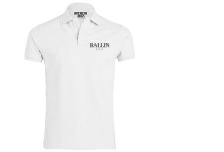 BALLIN Paris herenpolo's | Origineel, hip en van topkwaliteit! wit