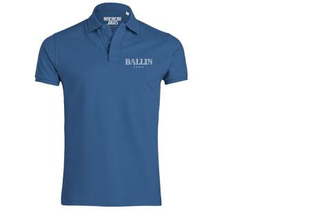 BALLIN Paris herenpolo's | Origineel, hip en van topkwaliteit! blauw
