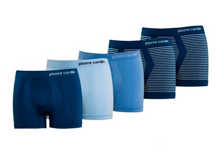 Pierre Cardin herenboxers 5-pack  | De basic voor elke man Blauw