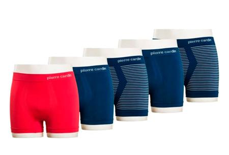 Pierre Cardin herenboxers 5-pack  | De basic voor elke man Rood