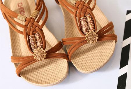 Stylish Boho slippers met comfortabel voetbed | Voor een zomerse bohemian look!