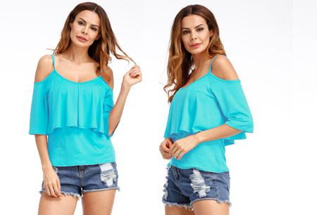Layered top | Zomerse musthave keuze uit 3 kleuren  Blauw