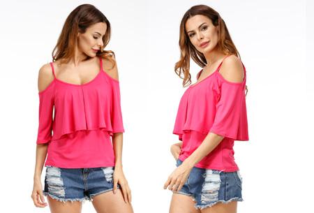 Layered top | Zomerse musthave keuze uit 3 kleuren  Roze