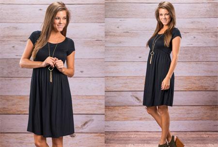Casual jurk | Vrouwelijk & comfy jurkje voor elke gelegenheid zwart