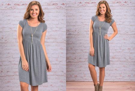 Casual jurk | Vrouwelijk & comfy jurkje voor elke gelegenheid grijs