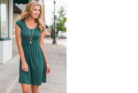 Casual jurk | Vrouwelijk & comfy jurkje voor elke gelegenheid groen