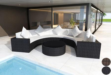 Half ronde loungeset