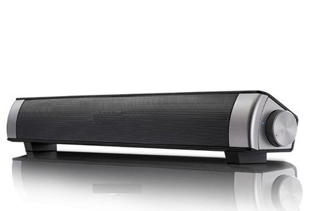Draadloze Bluetooth soundbar speaker Zwart