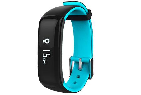 Activity tracker Bluetooth 4.0 | Met bloeddruk- en hartslagmeter  Blauw