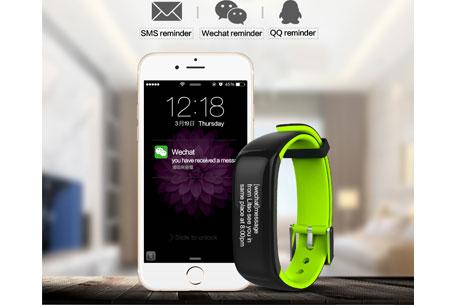 Activity tracker Bluetooth 4.0 | Met bloeddruk- en hartslagmeter