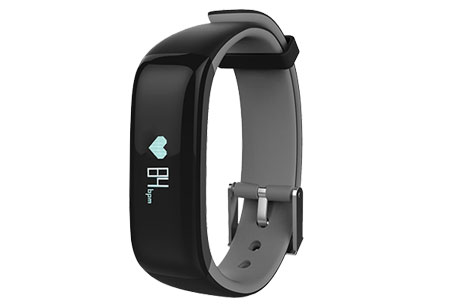 Activity tracker Bluetooth 4.0 | Met bloeddruk- en hartslagmeter  Grijs