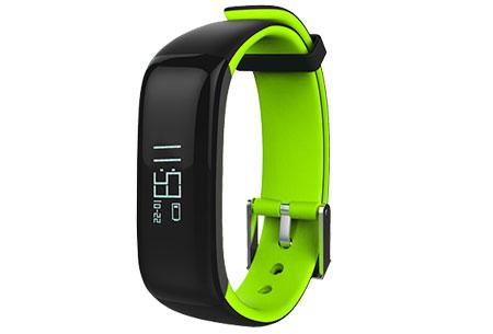 Activity tracker Bluetooth 4.0 | Met bloeddruk- en hartslagmeter  Groen