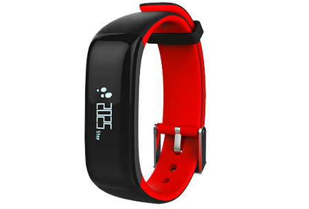 Activity tracker Bluetooth 4.0 | Met bloeddruk- en hartslagmeter  Rood
