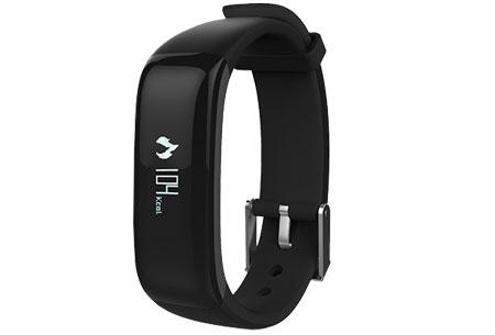 Activity tracker Bluetooth 4.0 | Met bloeddruk- en hartslagmeter  Zwart
