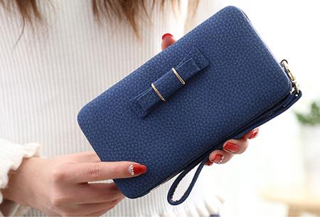 Clutch phone wallet | Multifunctioneel en verkrijgbaar in 8 kleuren Blauw
