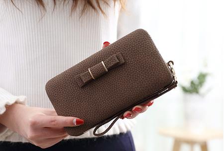 Clutch phone wallet | Multifunctioneel en verkrijgbaar in 8 kleuren Coffee