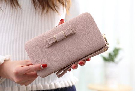 Clutch phone wallet | Multifunctioneel en verkrijgbaar in 8 kleuren Roze