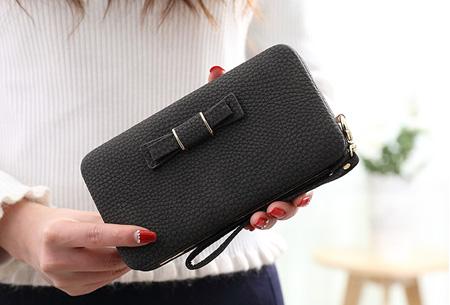 Clutch phone wallet | Multifunctioneel en verkrijgbaar in 8 kleuren Zwart