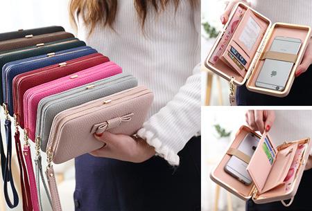 Clutch phone wallet | Multifunctioneel en verkrijgbaar in 8 kleuren