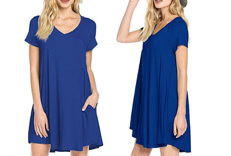 Stylish joggingjurk   Shop deze comfortabele jurk nu extra goedkoop Blauw