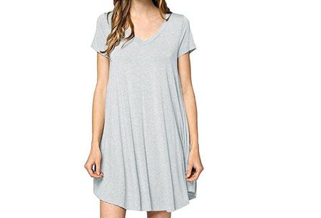 Stylish joggingjurk   Shop deze comfortabele jurk nu extra goedkoop Lichtgrijs