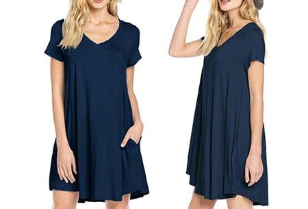Stylish joggingjurk   Shop deze comfortabele jurk nu extra goedkoop navy
