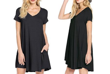 Stylish joggingjurk   Shop deze comfortabele jurk nu extra goedkoop Zwart