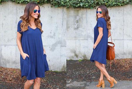 Stylish joggingjurk   Shop deze comfortabele jurk nu extra goedkoop