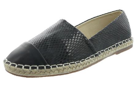 Espadrilles in leather, suède of snake look & diverse kleuren | Shop ze nu voor een bodemprijs! zwart snake