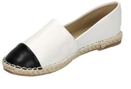Espadrilles in leather, suède of snake look & diverse kleuren | Shop ze nu voor een bodemprijs! wit leather look