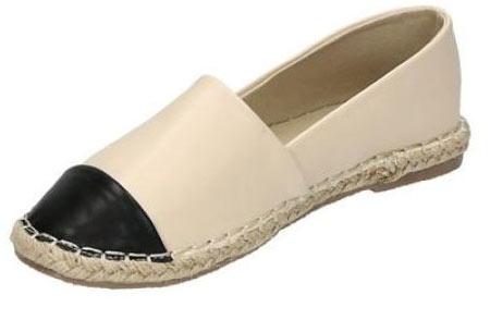Espadrilles in leather, suède of snake look & diverse kleuren | Shop ze nu voor een bodemprijs! beige leather look