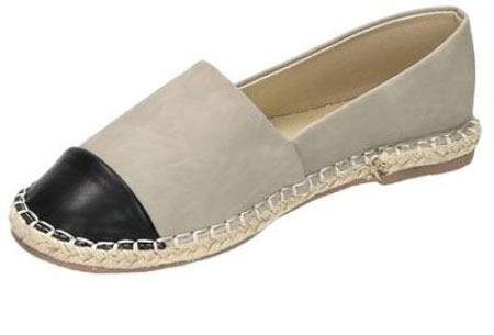 Espadrilles in leather, suède of snake look & diverse kleuren | Shop ze nu voor een bodemprijs! grijs leather look