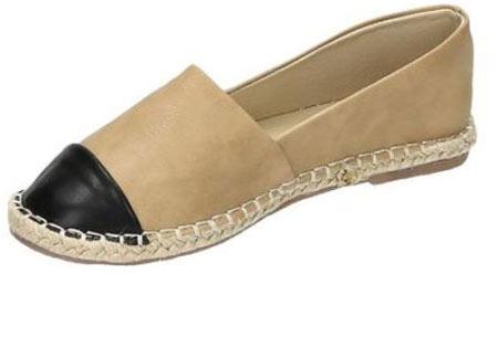 Espadrilles in leather, suède of snake look & diverse kleuren | Shop ze nu voor een bodemprijs! khaki leather look