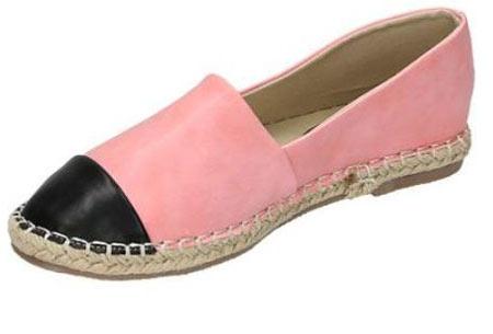 Espadrilles in leather, suède of snake look & diverse kleuren | Shop ze nu voor een bodemprijs! roze leather look