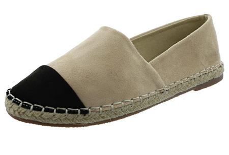 Espadrilles in leather, suède of snake look & diverse kleuren | Shop ze nu voor een bodemprijs! beige suède look