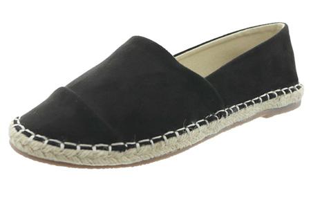 Espadrilles in leather, suède of snake look & diverse kleuren | Shop ze nu voor een bodemprijs! zwart suède look