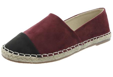 Espadrilles in leather, suède of snake look & diverse kleuren | Shop ze nu voor een bodemprijs! bordeaux suède look