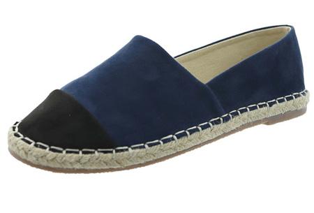 Espadrilles in leather, suède of snake look & diverse kleuren | Shop ze nu voor een bodemprijs! navy suède look